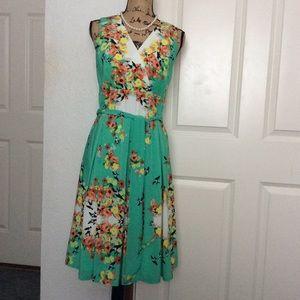 Summer bird floral dress